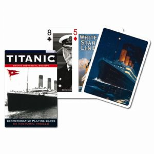Titanic set of 52 playing cards + jokers    (bpc)